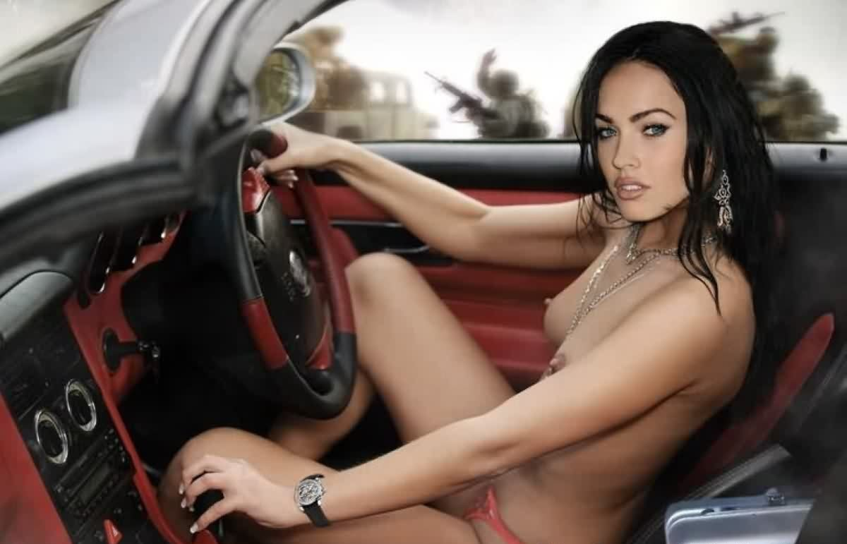 Megan Fox Nude in the Car - 56 Collection Megan Fox Hot Nude xxx Pics