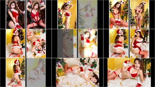 Video Sexy Chinese Model Is Wearing Hot Red Bikini For Christmas